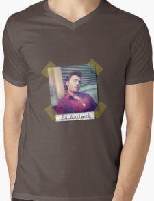 Ed Westwick retro Mens V-Neck T-Shirt