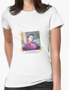 Ed Westwick retro Womens Fitted T-Shirt