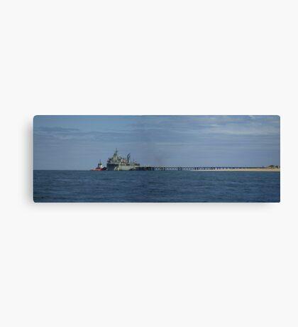 HMAS Sirius at Exmouth Navy Pier, Western Australia Canvas Print