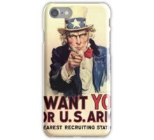 Uncle Sam - I Want You For U.S. Army iPhone Case/Skin