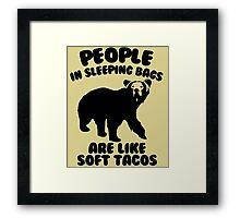 Camping Humor - Bear Food Framed Print