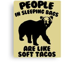 Camping Humor - Bear Food Canvas Print