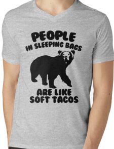 Camping Humor - Bear Food Mens V-Neck T-Shirt
