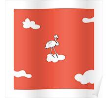 Flying Flamingo by McKenna Sanderson Poster