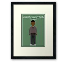 "Troy Barnes: ""Lost Something"" Framed Print"