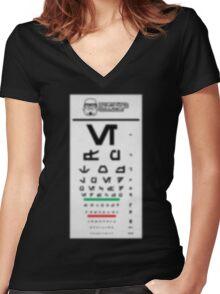 Stormtrooper Eye Exam Women's Fitted V-Neck T-Shirt