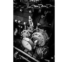 Black & White Steampunk Engine Photographic Print
