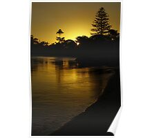 Coffs Creek Sunset Poster