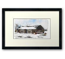 Snowy New England Barn Framed Print