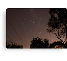30 second exposure at night sky Canvas Print
