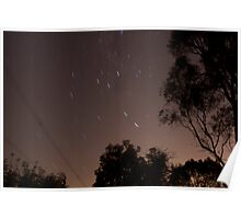 30 second exposure at night sky Poster