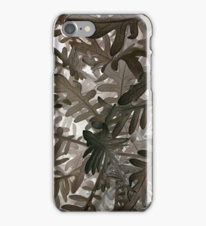 Leaves, inverse iPhone Case/Skin