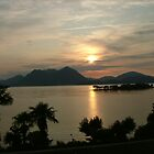 Sunrise over Lake Maggiore by Marilyn Grimble