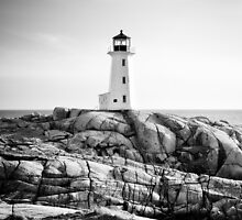 Peggy's Cove Lighthouse, Nova Scotia by Charles Plant