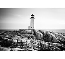Peggy's Cove Lighthouse, Nova Scotia Photographic Print