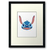 Flat Stitch Framed Print