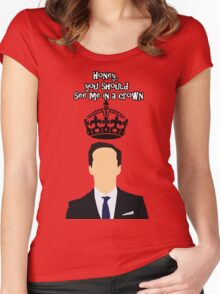 Moriarty,You should see me in a crown Women's Fitted Scoop T-Shirt