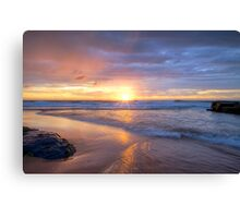 Turimetta Beach HDR Sunrise No 2 Canvas Print