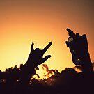 Lift our hands skywards by Fiona Christensen
