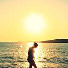 Sunset in Greece by Fiona Christensen