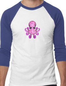 Cute Pink Baby Octopus Men's Baseball ¾ T-Shirt