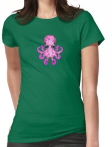 Cute Pink Baby Octopus Womens Fitted T-Shirt