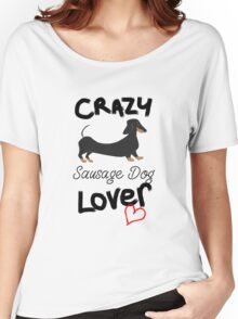 Crazy Sausage Dog Lover Women's Relaxed Fit T-Shirt