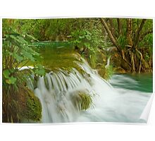 Waterfall in the forest. Poster