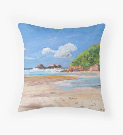 Kings Beach Broken Head  Throw Pillow