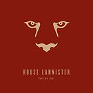 House Lannister Minimalist iPhone Case by liquidsouldes