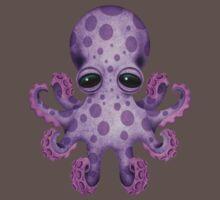 Cute Purple Baby Octopus Baby Tee