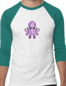 Cute Purple Baby Octopus Men's Baseball ¾ T-Shirt