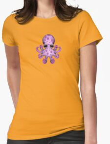 Cute Purple Baby Octopus Womens Fitted T-Shirt