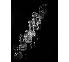 Glass Chess Pieces Photographic Print