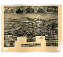 Panoramic Maps Confluence Pennsylvania 1905 Poster