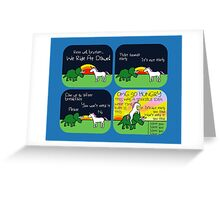We Ride At Dawn! (Triceratops and Unicorn) Greeting Card