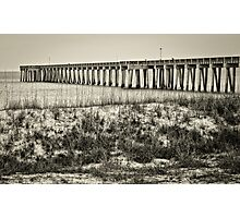 **PIER INTO THE GULF** Photographic Print