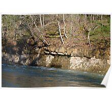 Rockface Beside A Creek Poster