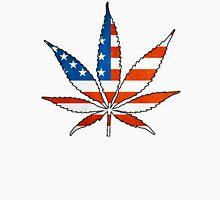 Marijuana Leaf American Flag T-Shirt