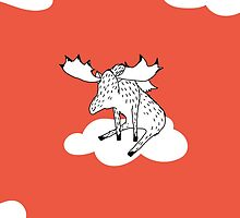 Flying Moose by Amanda Jones by ucodesign