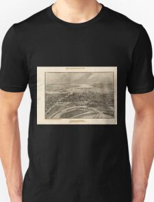 Panoramic Maps View of the city of Providence as seen from the dome of the new State House T-Shirt