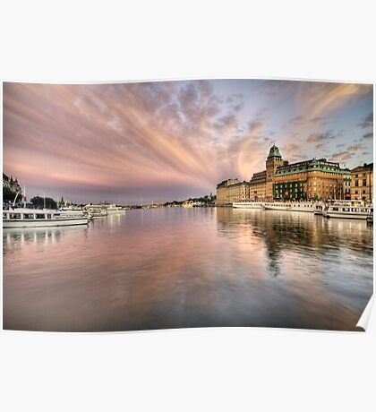 Amazing sky over Stockholm Poster