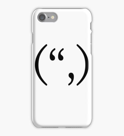 "Happy text smiley ("",) iPhone Case/Skin"