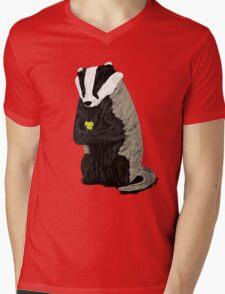 Hufflepuff Badger Mens V-Neck T-Shirt