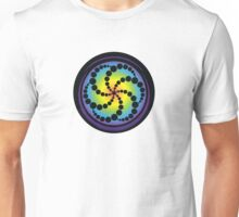 Hex Spiral Crop Circle Unisex T-Shirt