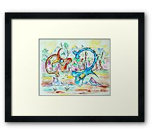 Loh Nes Guitars Framed Print