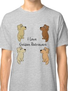 I Love Golden Retrievers! Classic T-Shirt