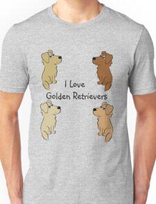 I Love Golden Retrievers! Unisex T-Shirt