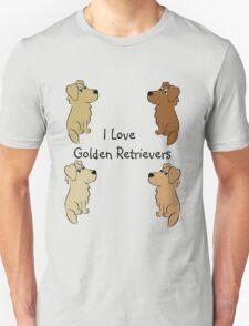 I Love Golden Retrievers! T-Shirt