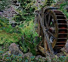 Garden's Water Wheel by Michael Rubin